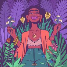 BEAUTY IN NATURE. A Illustration und Digitale Zeichnung project by Cristina Segura - 05.04.2021