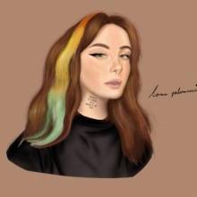 Proceso de un retrato digital . Un proyecto de Ilustración, Ilustración digital e Ilustración de retrato de Lorna Palomares - 18.10.2020