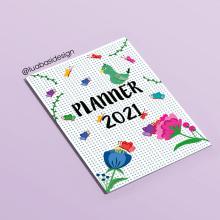 Planner Digital Floral. Un proyecto de Diseño, Diseño digital y Dibujo digital de Luana - 06.02.2021