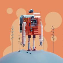 Lowfi cyberpunk. Um projeto de 3D, Animação 3D e Modelagem 3D de Mohamed Chahin - 06.04.2021