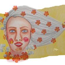 Mi Proyecto del curso: Retrato ilustrado en acuarela. A Illustration, Painting, Creativit, Drawing, Watercolor Painting, Portrait illustration, Portrait Drawing, and Figure drawing  project by Ana Karina Moreno - 04.07.2021