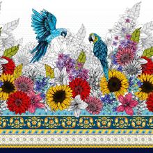 Primavera - DNA Criativo. A Illustration, Pattern Design, and Printing project by Analy Bertazzo - 04.07.2021