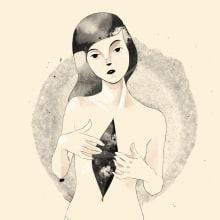Autopsia . Un progetto di Illustrazione, Belle arti, Creatività, Illustrazione digitale, Disegno digitale, Pittura digitale e Illustrazione con inchiostro di Dayana Montesano - 01.01.2021