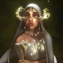 Mary Magdalene Retrato 3D. Un proyecto de 3D, Diseño de iluminación, Fotografía de retrato, Modelado 3D, Ilustración de retrato y Diseño de personajes 3D de Alex Estrella - 08.04.2021