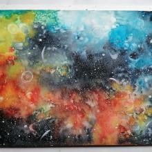 Galaxy⭐🌌⭐My project in Modern Watercolor Techniques course. Un progetto di Illustrazione, Disegno, Disegno artistico , e Brush painting di Dina Selisiou - 08.04.2021