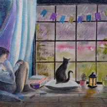 Mi Proyecto del curso: Ilustración expresiva trazo a trazo. Un projet de Illustration, Dessin au cra , et on de Marieta Alonso-Collada - 08.04.2021