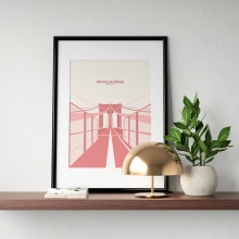 Travel Prints. A Illustration, Vector Illustration, Digital illustration, and Architectural illustration project by Charlotte Robertson - 06.10.2020