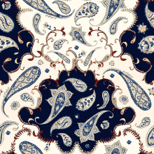 Paisley Print inspired by Etro. A Illustration, Pattern Design, and Printing project by Analy Bertazzo - 04.07.2021