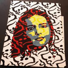 Autorretrato (tríptico). Un proyecto de Ilustración e Ilustración de retrato de Lia Caldas - 09.04.2021