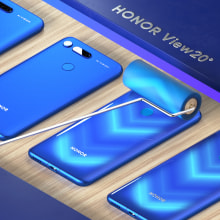 Honor View 20 Mobile. A 3-D, Animation, 3-D-Animation, 3-D-Modellierung, Mobile Design und 3-D-Design project by Dan Zucco - 16.11.2020