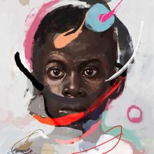 Random Portraits V 3. Un proyecto de Bellas Artes, Pintura, Ilustración de retrato, Dibujo de Retrato y Pintura digital de Leo Jimenez Art - 10.04.2021