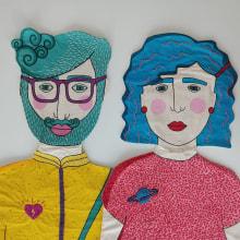 Los Gracias. Um projeto de Concept Art, Bordado e Ilustração têxtil de ine agresta - 11.10.2020