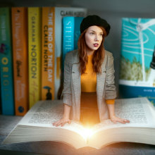 Book-bound. A Photographic Composition, and Self-Portrait Photograph project by Ana Stanojevic - 04.11.2021