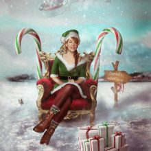 Santa's helper. A Photographic Composition, and Self-Portrait Photograph project by Ana Stanojevic - 12.15.2020