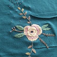 Sweaters intervenidos 🧵💗. Un proyecto de Bordado de Meli Hartman - 11.04.2021
