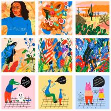 Mi Proyecto del curso: Creación de un porfolio de ilustración en Instagram. Um projeto de Marketing de Gisele Murias - 13.04.2021
