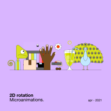 2D rotation — Microanimations. A Illustration, Motion Graphics, Animation, Graphic Design, and 2D Animation project by María Marqueses - 04.15.2021
