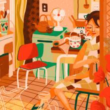 Naranjas. Um projeto de Ilustração de Gisele Murias - 18.04.2021