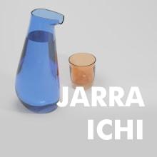 Jarra ICHI (vidrio). Um projeto de Design de produtos de miguel Cano De La Fuente - 08.04.2020