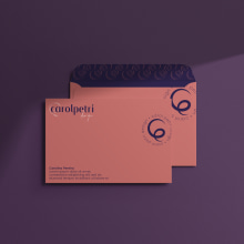 Identidade Visual - Carol Petri Design. Un proyecto de Diseño, Br, ing e Identidad, Diseño gráfico, Diseño de logotipos y Diseño digital de Carolina Pereira - 20.04.2021