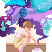 Mi Proyecto del curso: Ilustración digital con influencia manga. Un proyecto de Creatividad, Dibujo, Dibujo digital, Pintura digital y Dibujo manga de Fernanda Pardo - 21.04.2021