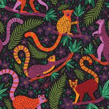 Dark Jungle. Um projeto de Pattern Design, Ilustração vetorial, Ilustração digital, Ilustração têxtil e Ilustração infantil de Yuliia Bahniuk - 24.11.2020