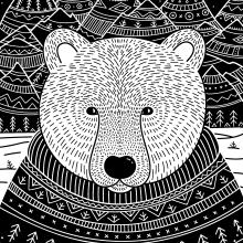 Animals in Clothes. Um projeto de Ilustração, Ilustração digital e Ilustração naturalista de Yuliia Bahniuk - 21.12.2020