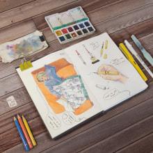 Mi Proyecto del curso: Urban Sketching: expresa tu mundo con una nueva perspectiva. Un proyecto de Ilustración y Sketchbook de Niabellum - 22.04.2021