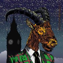 The He-Goat of London. Un progetto di Illustrazione, Illustrazione vettoriale, Illustrazione digitale , e Disegno digitale di Ramón Siverio - 23.04.2021