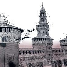 POPPING UP MILANO . Un progetto di Illustrazione, Animazione 3D e Illustrazione architettonica di Carlo Stanga - 23.04.2021