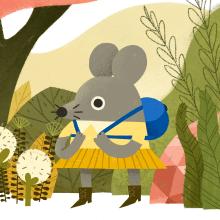 Lilly the Rat. Um projeto de Ilustração e Design de personagens de Elena Serrato - 23.04.2021