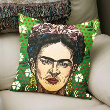 Frida Kahlo Portrait. Un progetto di Illustrazione, Illustrazione vettoriale, Illustrazione digitale , e Disegno digitale di Ramón Siverio - 24.04.2021
