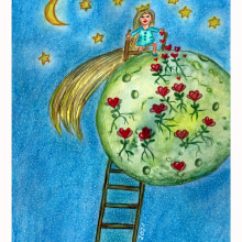 Mein Kursprojekt: Kinderillustration mit Aquarell. A Drawing project by Silvia Stangl - 04.24.2021
