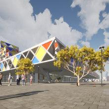 Cultural Center Project. Un proyecto de Arquitectura de Larbi Salihi Alaoui - 02.09.2020