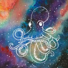 Galaxias marinas. Un proyecto de Ilustración de Iana perez nollet - 24.04.2021