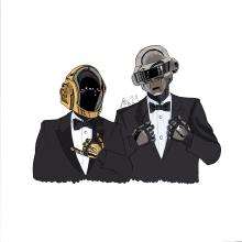 Daft Punk. Un proyecto de Ilustración e Ilustración digital de Alejandro Fuentes Alonso - 17.03.2021