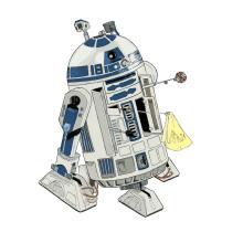 R2-D2. Un proyecto de Ilustración, Cine, vídeo, televisión y Cómic de Alejandro Fuentes Alonso - 01.04.2021