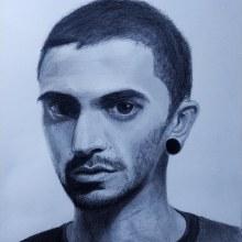 Meu projeto do curso: Retrato realista com lápis grafite. Un proyecto de Ilustración de João Brandão - 22.04.2021