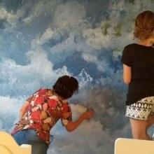 Arte em parede - pintura, fitas e desenhos. Un proyecto de Diseño, Pintura y Concept Art de Renata Dantas R Sachs - 26.04.2021