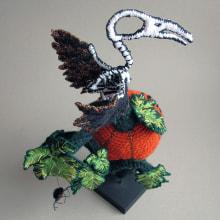 Pumpkin Skull. Un proyecto de Artesanía, Escultura, Bordado y Crochet de Amelie Erath Gentes - 31.10.2020