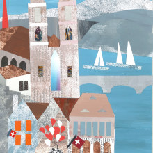 My project in Story Illustration with Paper course: Zürich Series. A Illustration project by Beatrix - 04.28.2021
