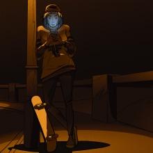 Skater Girl at night. Un proyecto de Diseño de personajes, Ilustración digital y Diseño de personajes 3D de Peter Wright - 29.04.2021