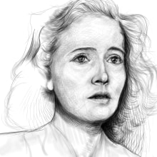 SKETCH DIGITAL. A Portrait Drawing, Digital Drawing, and Figure drawing  project by ALFONSO OSORIO - 06.16.2020
