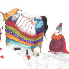 Tre tavole: La principessa sul pisello - 1 tavola: Studio per La famosa invasione degli orsi in Sicilia. A Children's Illustration project by Marta Perco - 04.30.2021