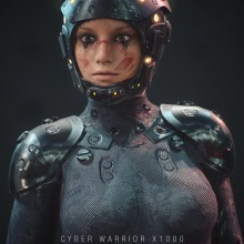 Cyber Woman x1000 By Oscar creativo. A Design, Illustration, 3D, Art Direction, Character Design, 3D Animation, Digital illustration, 3d modeling, Video game, 3D Character Design, Design 3D, Digital Design, Game Design, and 3D Lettering project by Oscar Creativo - 04.30.2021