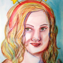 Mi Proyecto del curso: Retrato artístico en acuarela. A Illustration, and Painting project by Ana Karina Moreno - 04.30.2021