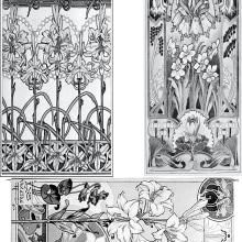 Art Nouveau decals. A Illustration, Crafts, and Ceramics project by Cristina - 04.30.2021