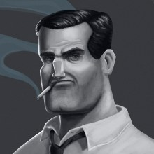 Noir Characters. A Illustration, Character Design, Digital illustration, Portrait illustration, and Digital Drawing project by Javier Martín Sanz de Bremond - 11.23.2020