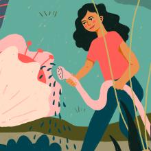 Reforestación + Love feeds. Um projeto de Ilustração, Design editorial, Ilustração digital, Comunicación e Ilustração editorial de Gisele Murias - 04.05.2021
