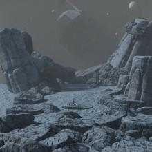 Mi Proyecto del curso: Ilustración fantástica 3D con Blender - Hoth concept art 3D. Un proyecto de Diseño, 3D, Multimedia, Escenografía, Modelado 3D y Concept Art de Elias Saavedra - 01.05.2021